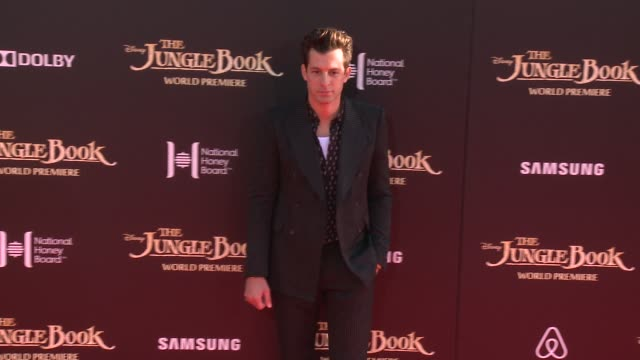 """mark ronson at disney's """"the jungle book"""" los angeles premiere at the el capitan theatre on april 04, 2016 in hollywood, california. - el capitan theatre stock videos & royalty-free footage"""