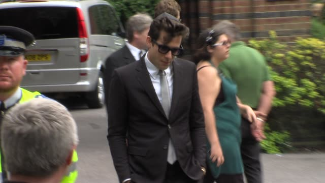 Mark Ronson at the Amy Winehouse Funeral Service at London London
