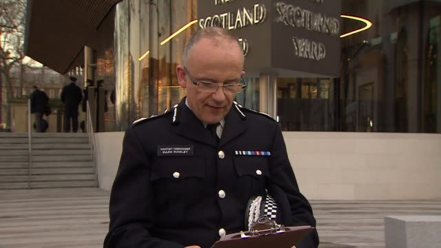 mark rowley acting deputy commissioner of the metropolitan police saying this is a day we planned for but hoped would never happen after the... - überfahren stock-videos und b-roll-filmmaterial