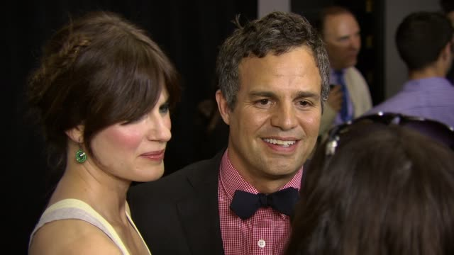 mark ruffalo and wife sunrise coigney at now you see me new york premiere presented by summit entertainment at amc lincoln square theater on may 21... - mark ruffalo stock videos and b-roll footage