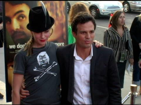 mark ruffalo and wife sunrise ruffalo at the 'we don't live here anymore' los angeles premiere arrivals at director's guild of america in hollywood,... - director's guild of america stock videos & royalty-free footage