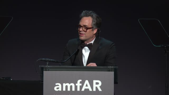 speech mark ruffalo at 19th annual amfar new york gala at cipriani wall street on february 08 2017 in new york city - mark ruffalo stock videos and b-roll footage