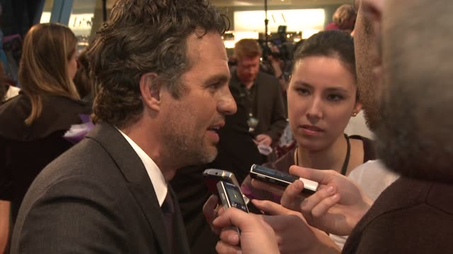 mark ruffalo at avengers assemble european premiere at westfield on april 19 2012 in london england - mark ruffalo stock videos and b-roll footage