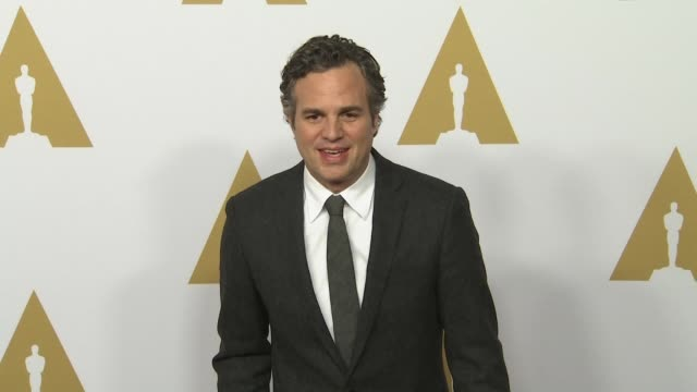 mark ruffalo at the 88th annual oscars® nominees luncheon at the beverly hilton hotel on february 08 2016 in beverly hills california - mark ruffalo stock videos and b-roll footage