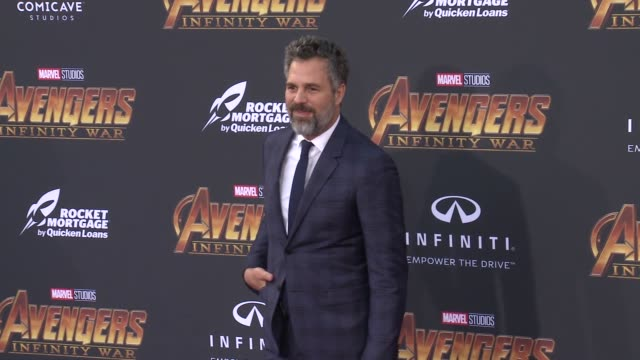 mark ruffalo at the avengers infinity war world premiere on april 23 2018 in hollywood california - mark ruffalo stock videos and b-roll footage