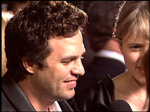 mark ruffalo at the 'eternal sunshine of the spotless mind' premiere at academy theater in beverly hills california on march 9 2004 - mark ruffalo stock videos and b-roll footage