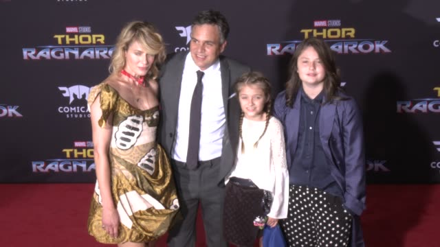 mark ruffalo at the thor ragnarok premiere at the el capitan theatre on october 10 2017 in hollywood california - mark ruffalo stock videos and b-roll footage