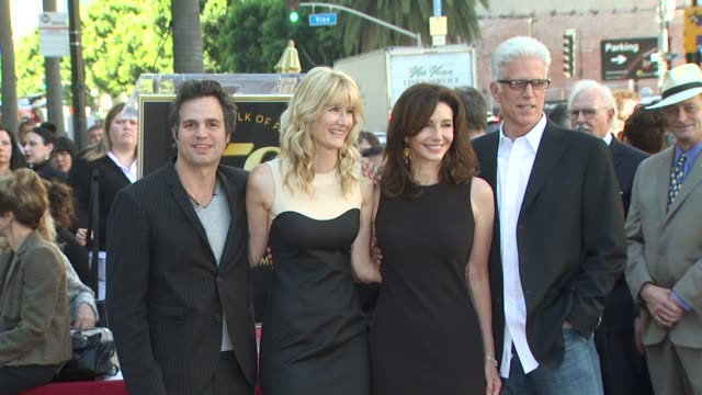mark ruffalo laura dern mary steenburgen and ted danson at the bruce dern laura dern and diane ladd honored at the hollywood walk of fame at... - mary steenburgen stock videos & royalty-free footage