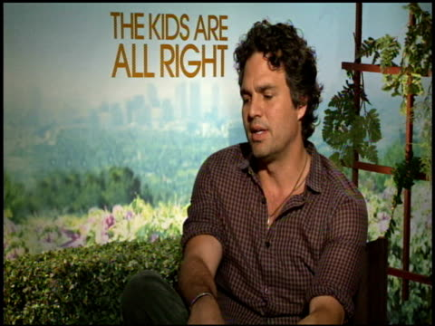 mark ruffalo on the difference between being an actor and an actor-director at the 'the kids are all right' junket at los angeles ca. - entertainment occupation stock videos & royalty-free footage