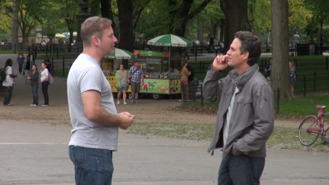 mark ruffalo on the movie set of thanks for sharing in new york on - mark ruffalo stock videos and b-roll footage