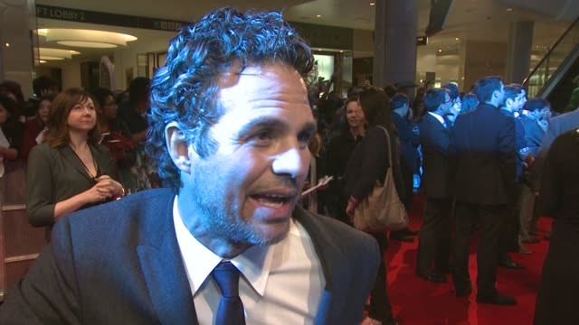 mark ruffalo on what attracted him to the role at avengers assemble european premiere at westfield on april 19 2012 in london england - mark ruffalo stock videos and b-roll footage