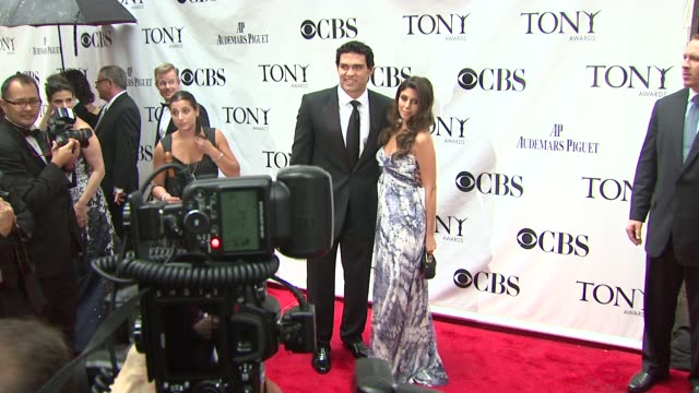 Mark Sanchez and JaimeLynn Sigler at the 64th Annual Tony Awards at New York NY