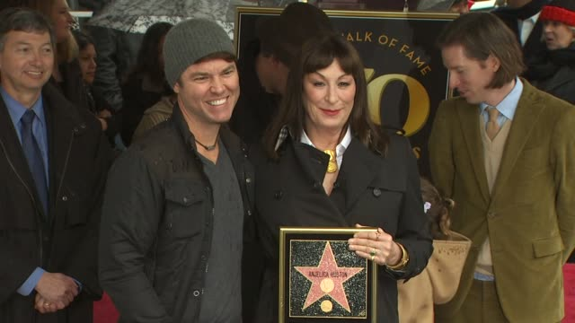 Mark Steven Johnson and Anjelica Huston at the Anjelica Huston Honored with a Star on the Hollywood Walk of Fame at Hollywood CA
