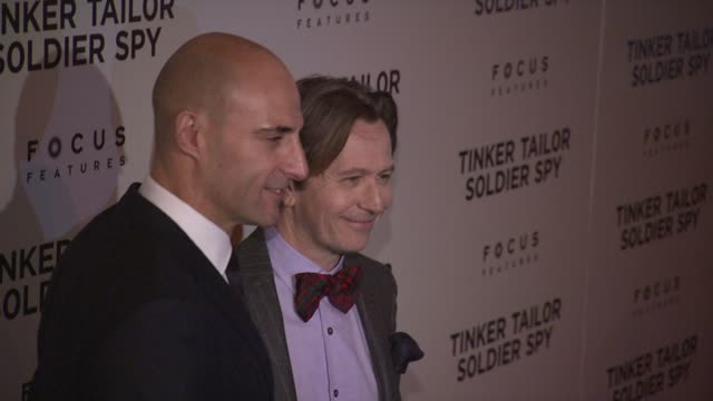 Mark Strong and Gary Oldman at the Premiere Of Focus Features' 'Tinker Tailor Soldier Spy' Red Carpet at New York NY
