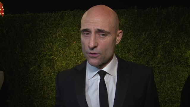 INTERVIEW Mark Strong on becoming an actor his wife and Benedict Cumberbatch at 60th London Evening Standard Theatre Awards 2014 on 30th November...