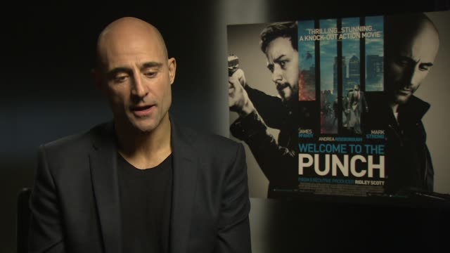 interview mark strong on being asked by bruce willis to be part of die hard at the 'welcome to the punch' junket at soho hotel on march 05 2013 in... - bruce willis stock videos and b-roll footage