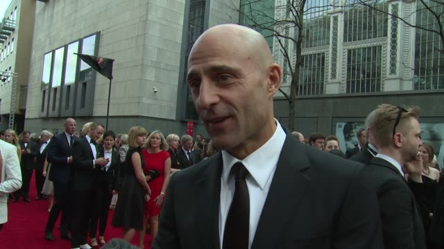 INTERVIEW Mark Strong on the awards and future film releases at The Laurence Olivier Awards with MasterCard on 12th April 2015 in London England