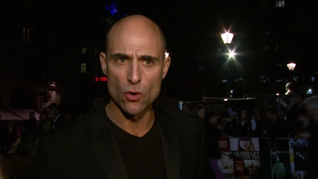 Mark Strong on UK film funding at the Never Let Me Go Premiere 54th BFI London Film Festival at London England