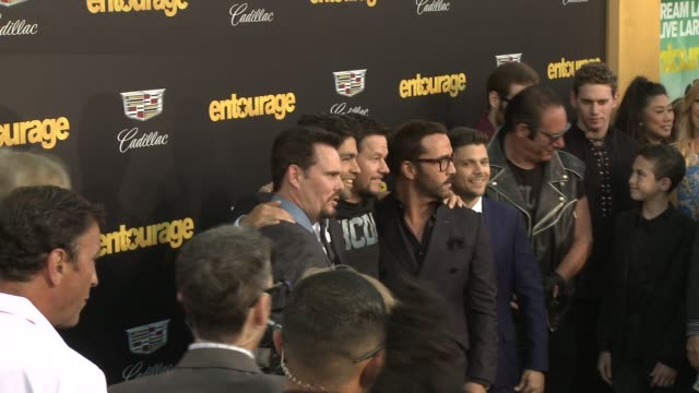 Mark Wahlberg Adrian Grenier Kevin Dillon Jerry Ferrara Jeremy Piven at Entourage Los Angeles Premiere at Regency Village Theatre on June 01 2015 in...