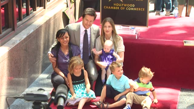Mark Wahlberg and family at the Mark Wahlberg Honored With A Star On The Hollywood Walk Of Fame at Hollywood CA