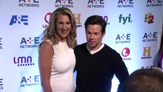 Mark Wahlberg at 2014 AE Networks Upfront Arrivals at Park Avenue Armory on May 08 2014 in New York City