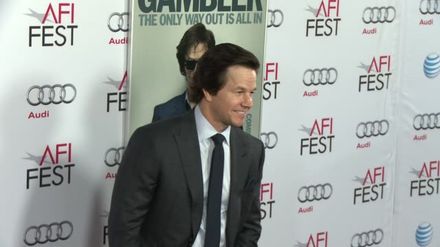 """mark wahlberg at afi fest 2014 presented by audi gala screening of """"the gambler"""" at dolby theatre on november 10, 2014 in hollywood, california. - the dolby theatre stock videos & royalty-free footage"""