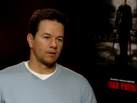 mark wahlberg interview promoting the max payne film mark wahlberg interview continued sot what's next for him the lovely bones then working out his... - gary glitter stock videos & royalty-free footage