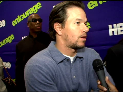 mark wahlberg on no longer being on set his function as producer and the 'bigger than sopranos' buzz at the 'entourage' third season new york... - performing arts center stock videos & royalty-free footage