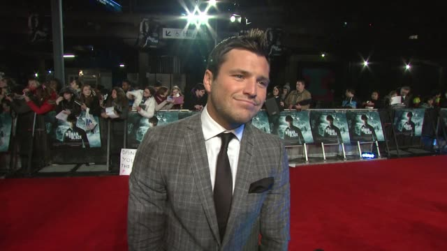 mark wright on the popularity of the towie, why people can relate to them, up and coming projects at the woman in black world premiere at the royal... - royal festival hall stock videos & royalty-free footage