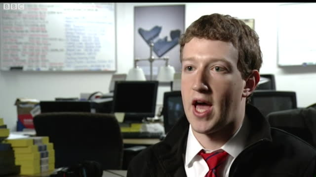 mark zuckerberg saying facebook's business model is based on advertising - advertisement stock videos & royalty-free footage