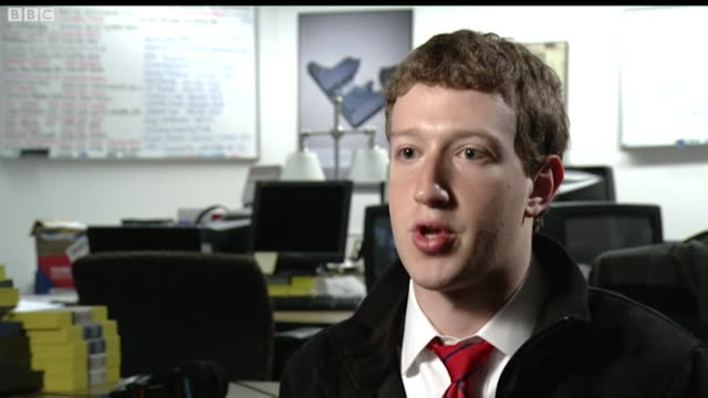 mark zuckerberg saying people want to see all the information out there but only want to share with those they want to see it and it is important to... - sharing stock videos & royalty-free footage