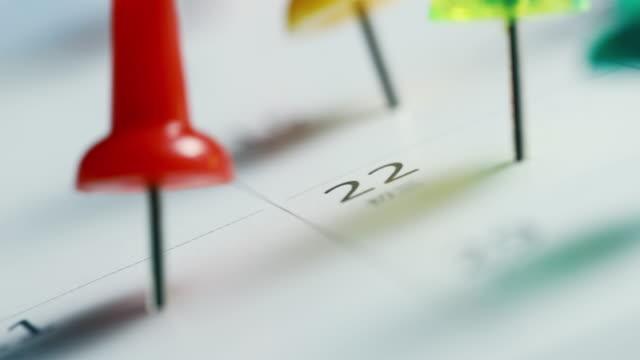 vídeos y material grabado en eventos de stock de marcado en el calendario - calendario
