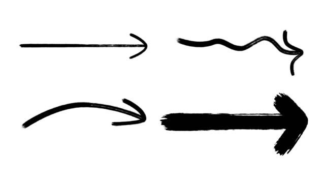 marker arrows, hand drawing arrows - arrow symbol stock videos & royalty-free footage