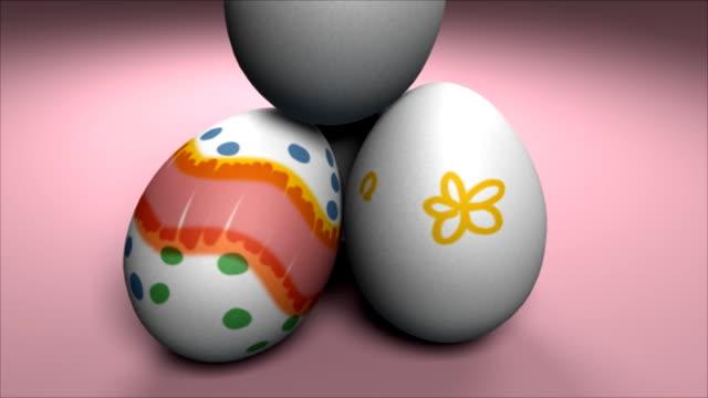 マーカーイースター卵#1 - 少数の物点の映像素材/bロール