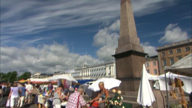 Market and Statue, Helsinki, Finland