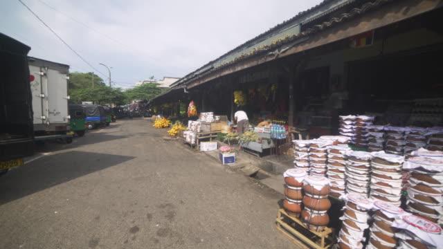 market at galle fort, sri lanka. steadicam shot - colonial stock-videos und b-roll-filmmaterial