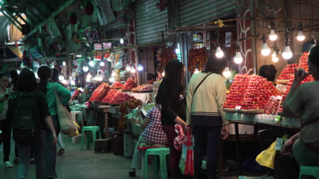market at philippines, baguio - philippines stock videos & royalty-free footage