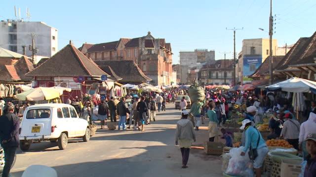 market in antananarivo, republic of madagascar - human settlement stock videos & royalty-free footage