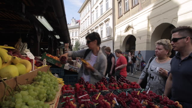 market on havelska, prague, czech republic, europe - traditionally czech stock videos & royalty-free footage