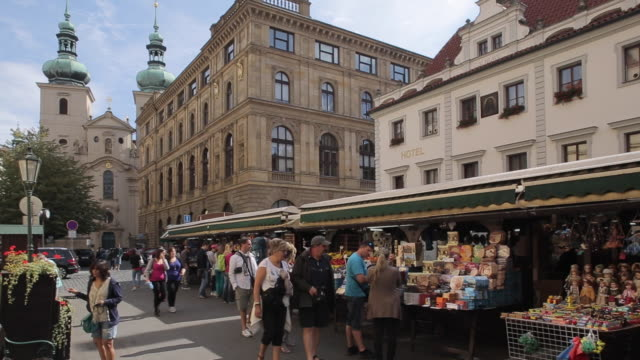 market on havelska, prague, czech republic, europe - czech culture stock videos & royalty-free footage