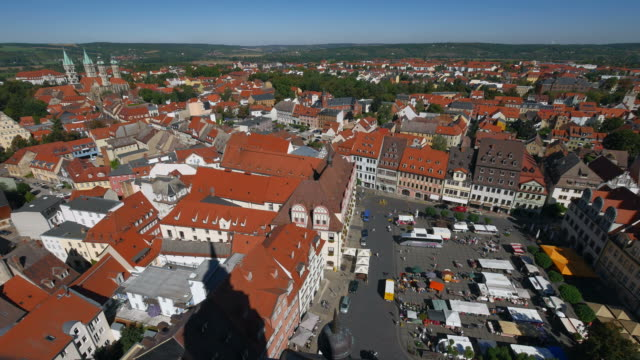 Market Square and old town, Naumburg on River Saale, Saxony-Anhalt, Germany