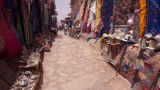 market stall in aït benhaddou - 4k resolution stock videos & royalty-free footage