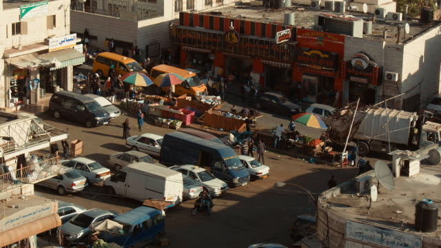 market street in ramallah seen from above - palestinian territories stock videos and b-roll footage