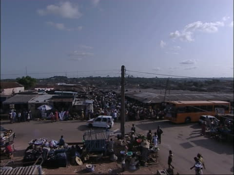 marketplace in ghana, west africa. - ghana stock videos & royalty-free footage