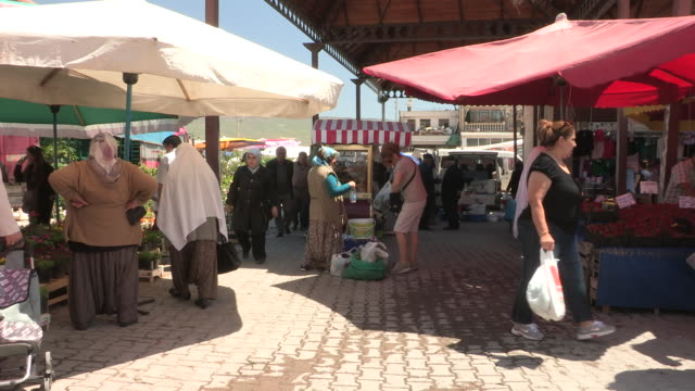 marketplace, urgup, turkey - turkey middle east stock videos and b-roll footage