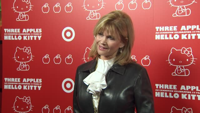 markie post at the hello kitty's 35th anniversary celebration at culver city ca - hello kitty stock videos and b-roll footage