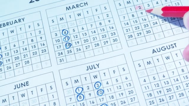 marking dates in calendar - week stock videos & royalty-free footage