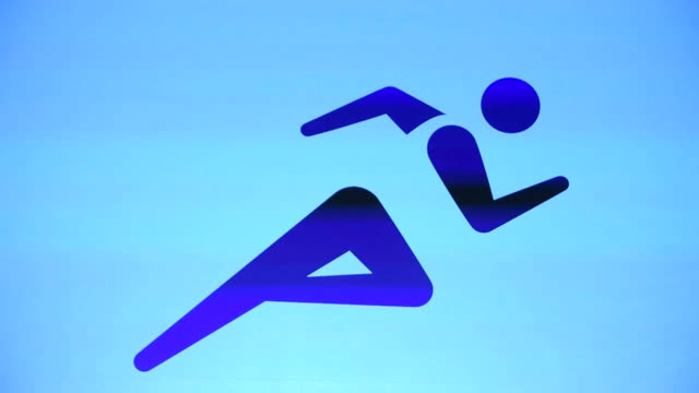 marking the 500day countdown to the 2020 tokyo olympics the tokyo organizing committee introduced 50 olympic pictograms for 33 medal sports at an... - 記号点の映像素材/bロール