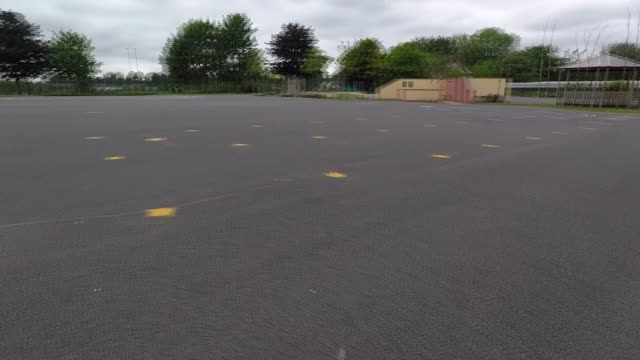 markings on a primary school playground so children can obey coronavirus social distancing rules - pattern stock videos & royalty-free footage