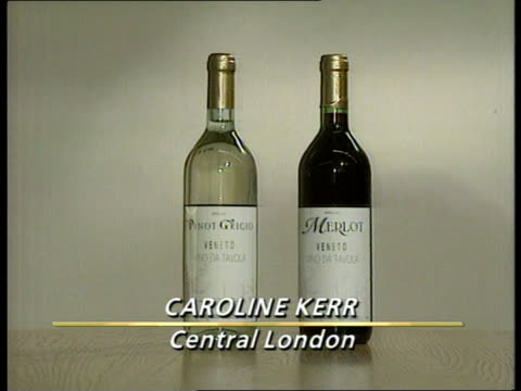 marks and spencer contaminated wine england ms bottles of italian wine that have been withdrawn because of contamination cms wine labels `pinot... - grigio stock videos and b-roll footage